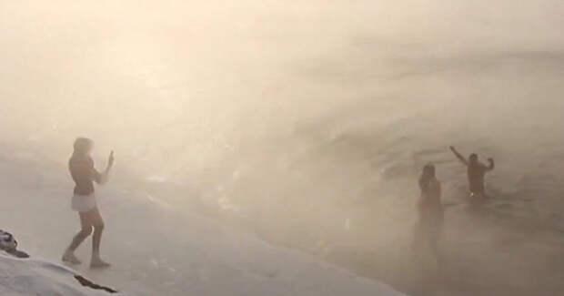 Euronews (Франция): русские в канун нового года ныряют в ледяной Байкал