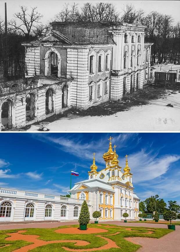 До и после: дворцы Санкт-Петербурга, разрушенные нацистами (ФОТО)
