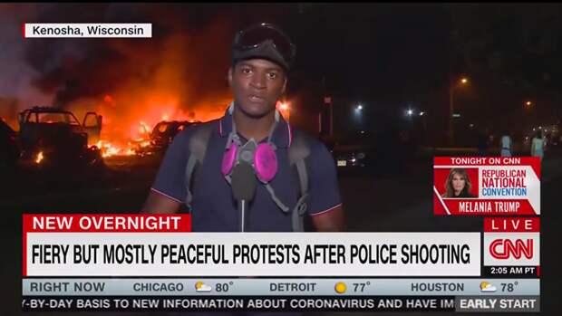 В основном мирный протест