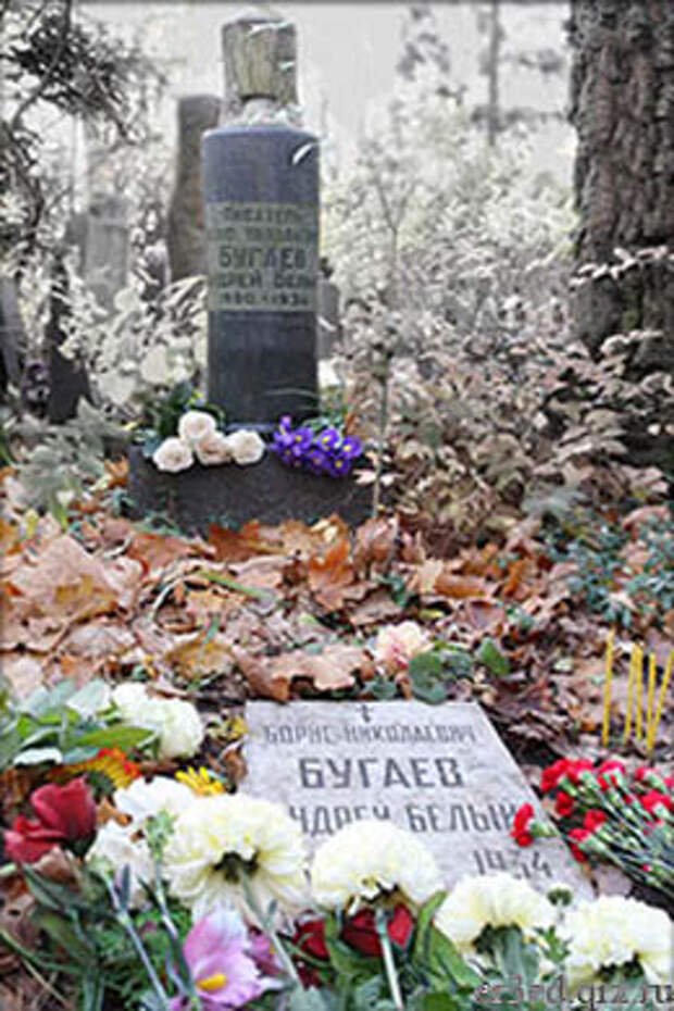 Могила Андрея Белого на Новодевичьем кладбище в Москве