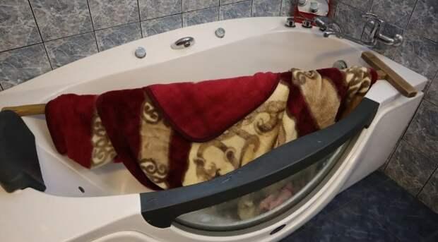 Много лет стираю большой плед, который не помещается в стиральную машинку. Без химчистки и прачечной