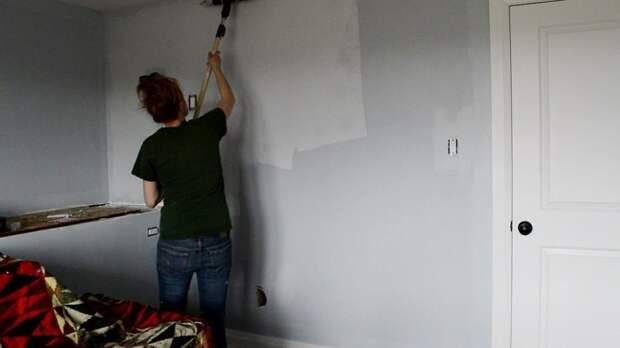 Перед установкой многофункциональной кровати Джессика сделала косметический ремонт. | Фото: thevanderveenhouse.com.