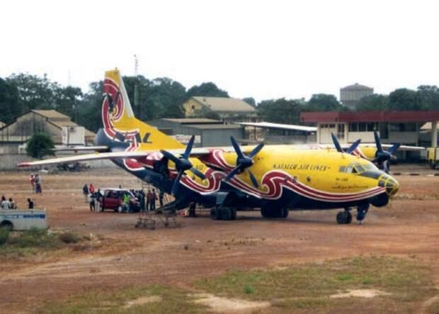 транспортный самолет, ан-12 в африке, самолеты ссср