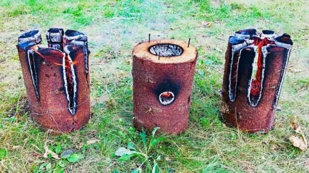 Как из простого полена сделать печь, которая будет гореть 5-6 часов