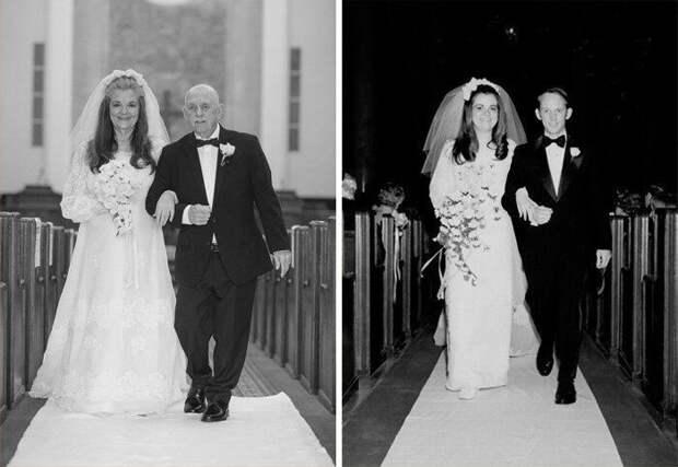 Двойная фотосессия свадьбы