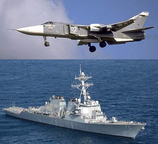 Российский Су-24 опять напугал американский эсминец: на этот раз в Балтийском море