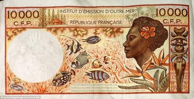 10 000 французских тихоокеанских франков