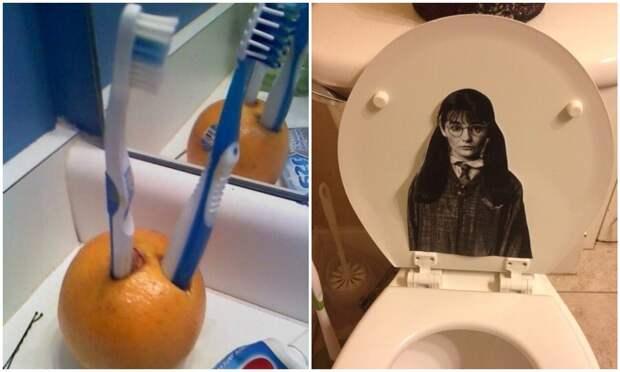 30 странных предметов, которые девушки нашли в мужских ванных и туалетах