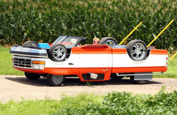 Может ли ездить автомобиль вверх колесами