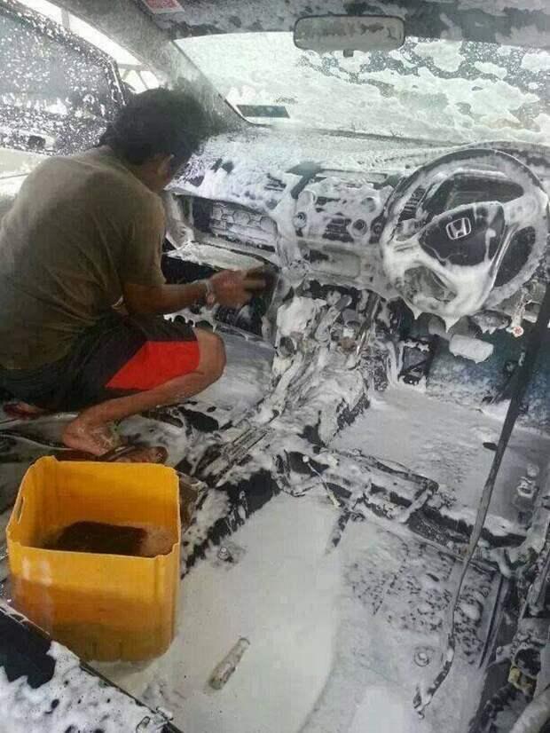 Вот почему лучше ездить на грязном автомобиле автомобили, автомойка, прикол, юмор