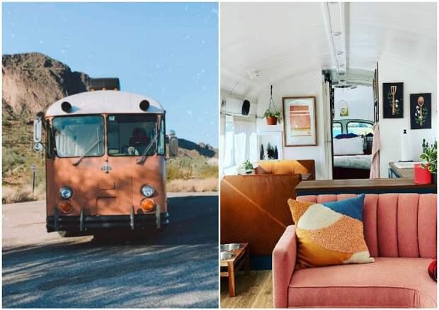 Подруги приобрели старый автобус и превратили его в комфортабельный дом