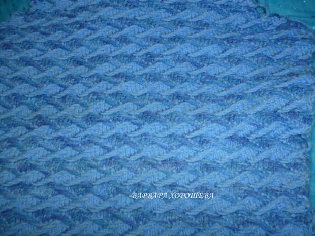 Узор с эффектом тканого полотна на спицах - мастер-класс