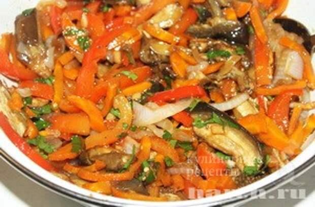 Закуска из запеченных баклажан с овощами Крымская