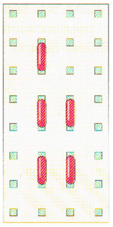 Вышивание крестиком по вертикали. Движение вперед (фото 4)