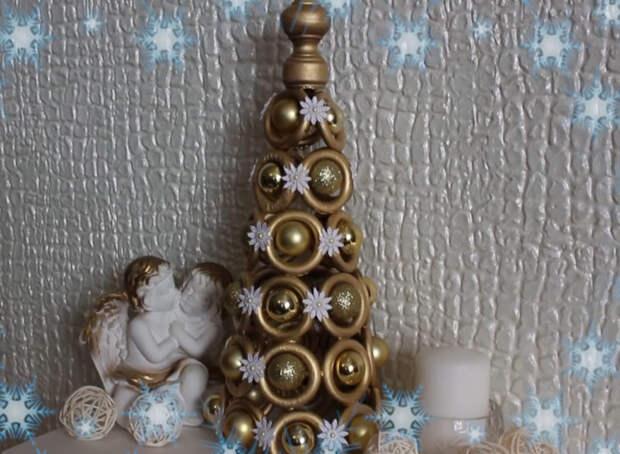 Деревянные колечки и 30 минут свободного времени и чудесный новогодний декор готов
