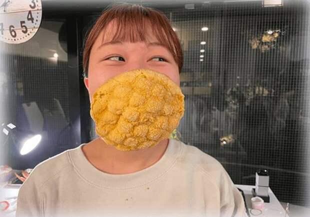 Японцы изобрели маску из булки