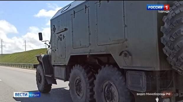 Военная техника возвращается из Крыма в пункты базирования