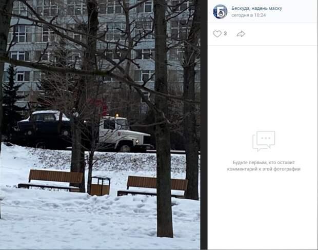 Фото дня: Бескудниковский раритет увез эвакуатор
