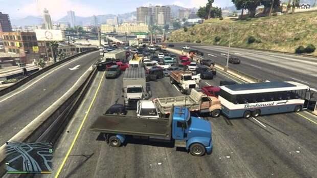 Беспилотные автомобили учатся ездить в игре GTA V