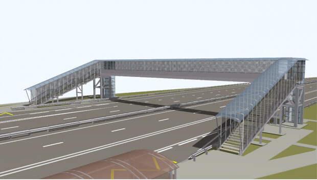 Пешеходный переход через Старосимферопольское шоссе достроят в сентябре 2019 г