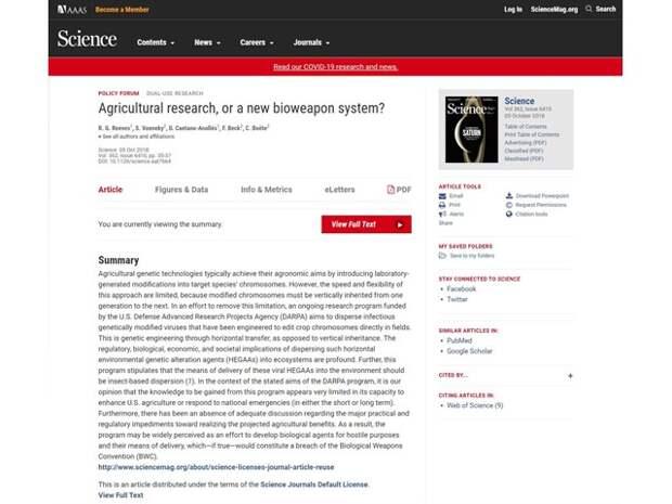Как войска США испытывали новейшее биооружие в странах СНГ