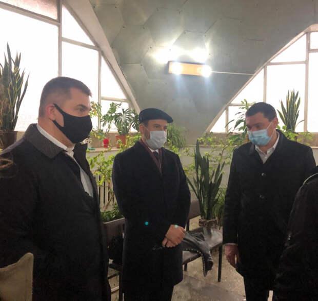 Дмитрий Ламейкин и мэр Краснодара оценил ход реконструкции Краснодарской бальнеолечебницы