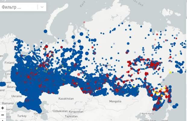 Интерактивная карта по участкам