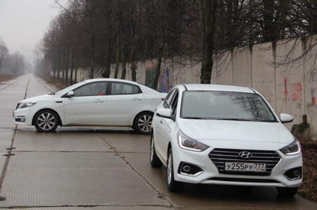 Hyundai Solaris или Kia Rio в двух лицах?
