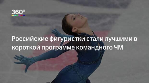 Российские фигуристки стали лучшими в короткой программе командного ЧМ
