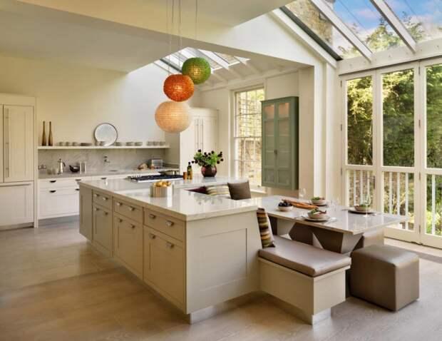Дизайн кухни 10 кв. м с диваном: идеи и рекомендации