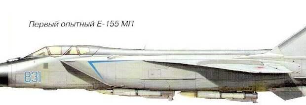 9.Опытный Е-155МП. Рисунок.