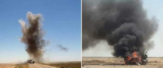 Появились фото с места гибели российского генерала в Сирии