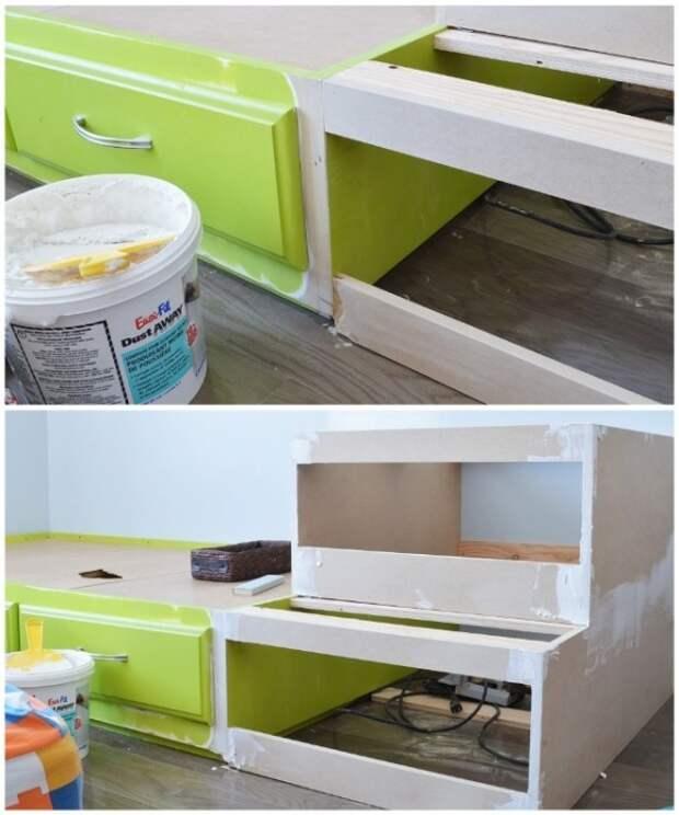 После сборки конструкции нужно заделать все щели и сколы специальным раствором. | Фото: thevanderveenhouse.com.