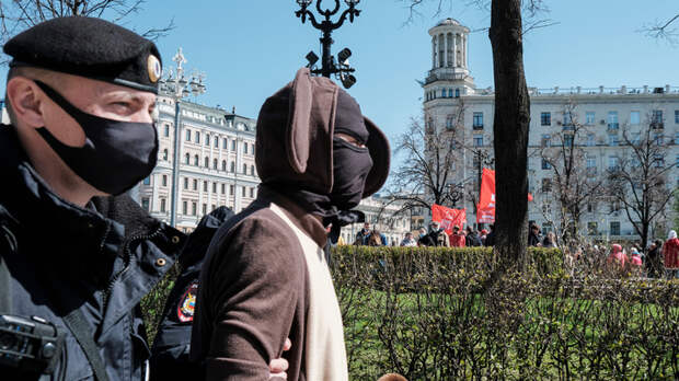 Митинг против вакцинации в Москве