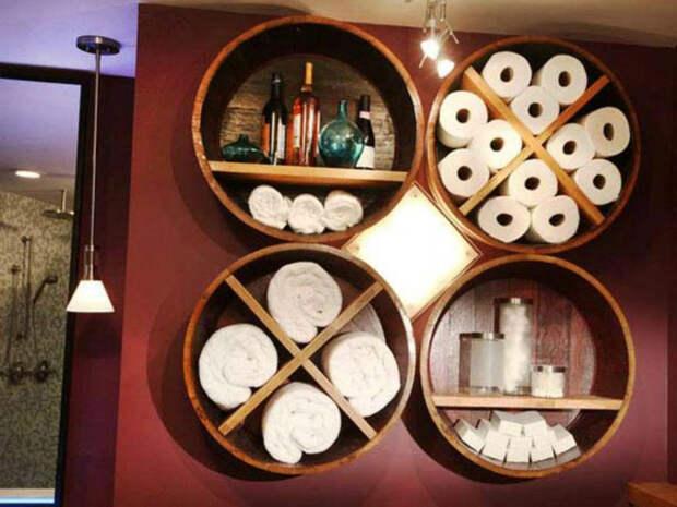 Превращение деревянных бочек в оригинальную мебель и предметы декора