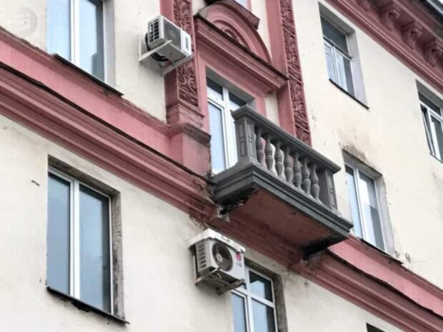 Первый отреставрированный балкон на «сталинке» появился в Ижевске на улице Пушкинской