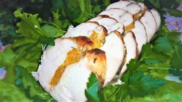 Вкусная куриная грудка с мандаринами на праздничный стол! Куриная грудка, Запеченная куриная грудка, Мясо на праздник, Видео, Рецепт, Еда, Кулинария, Новый Год