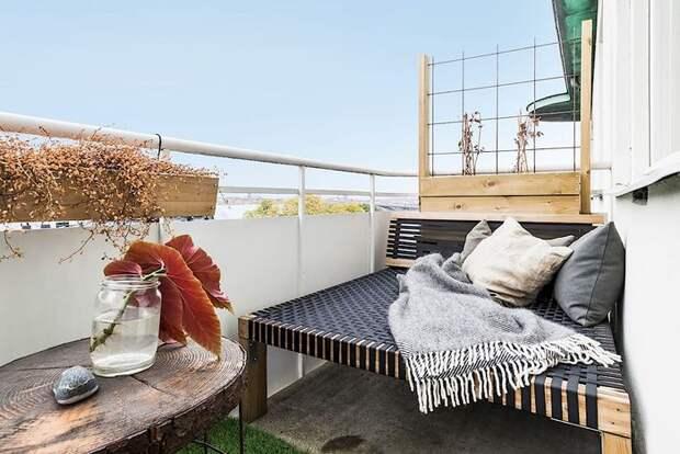 Интересное оформление балкона