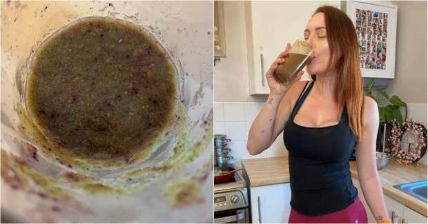 Нетрадиционная медицина: женщина пьет смузи соспермой, чтобы незаболеть коронавирусом