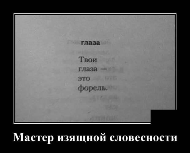 Демотиватор про глаза - стих
