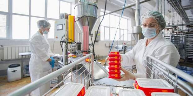 Собянин присвоил статус промкомплекса заводу плавленых сыров «Карат». Фото: Е. Самарин mos.ru