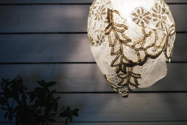 DIY: Как сделать кружевной абажур своими руками