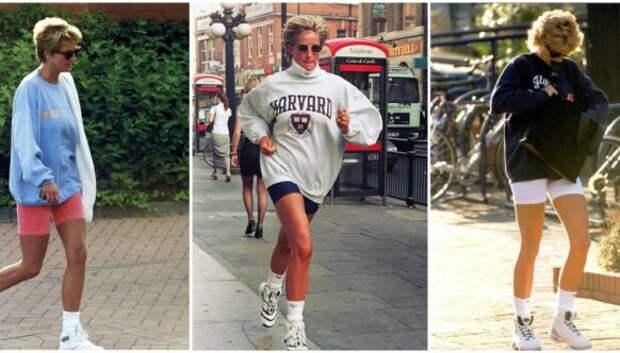 Принцесса Диана в велосипедках на фото 1990‑х годов