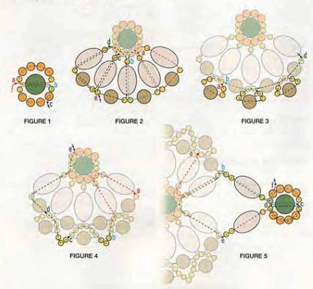 Браслеты с нежными цветками из бисера