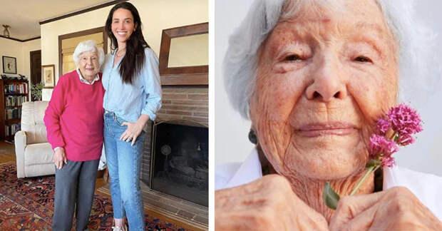 Правнучка убеждает свою 99-летнюю бабушку стать моделью, и фотографии получились потрясающие