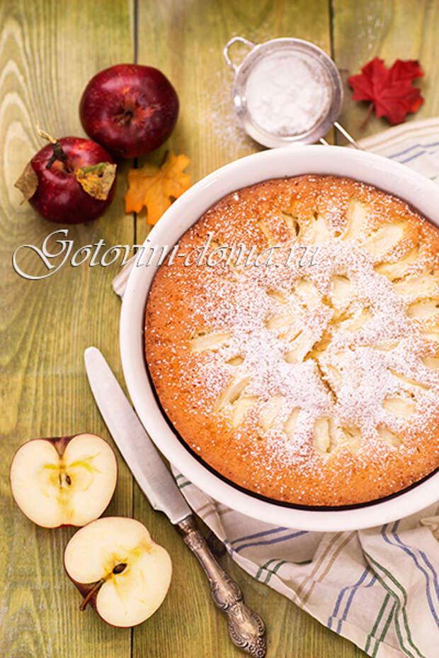 Яблочный пирог-шарлотка