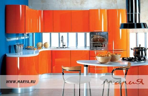 Кухонный гарнитур с барной стойкой «Wave» фабрики «Мария»