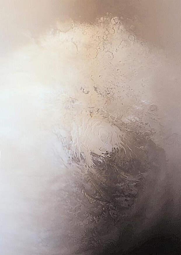 Решена старая загадка ледяной шапки южного полюса Марса