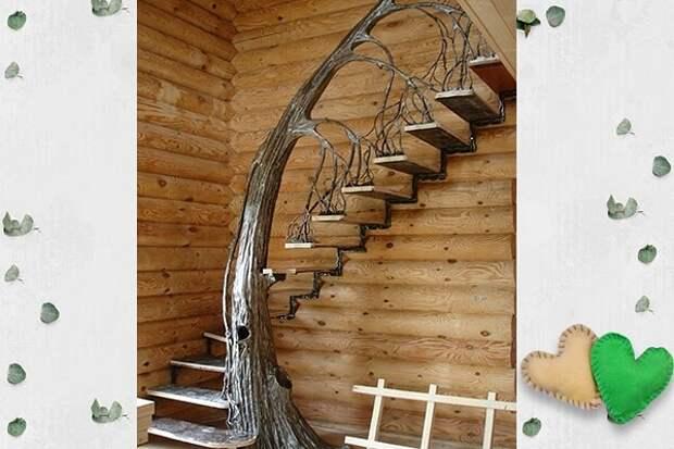 Как Вам лестница? По моему очень оригинально!
