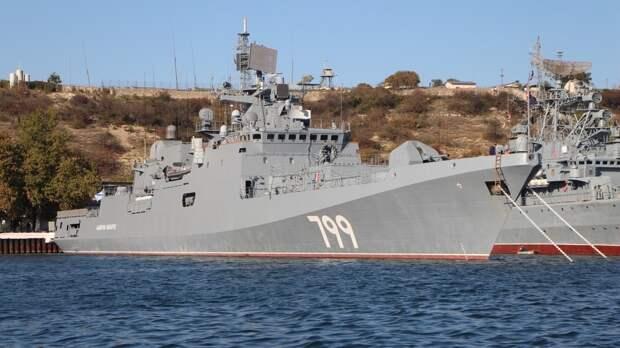 Корабли ВМФ РФ продолжают отслеживать действия ВМС Испании в Черном море